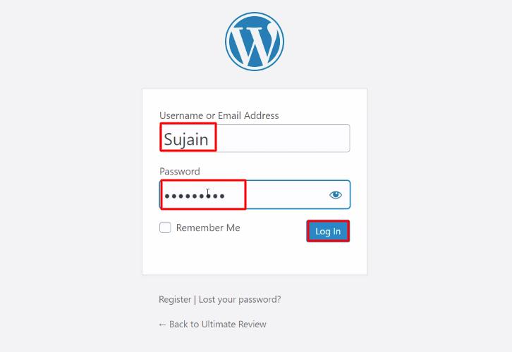 Login WooCommerce