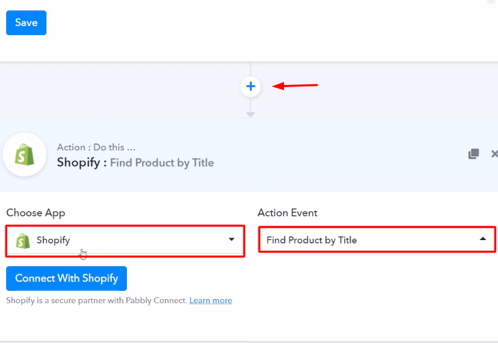 Select Shopify Action