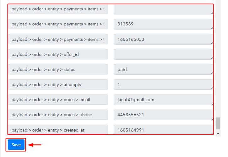 Check & Save Trigger API Response