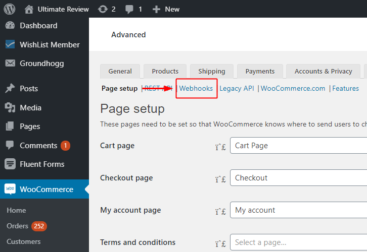 Click on Webhook for WooCommerce to Stripe