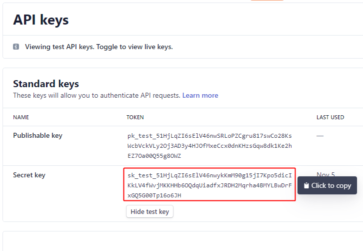 Copy API Key for Stripe to ConvertKit