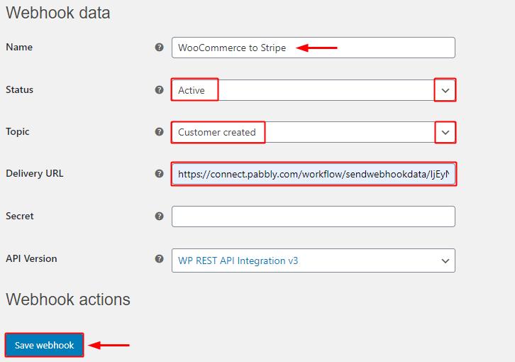 Paste API Key for WooCommerce to Stripe