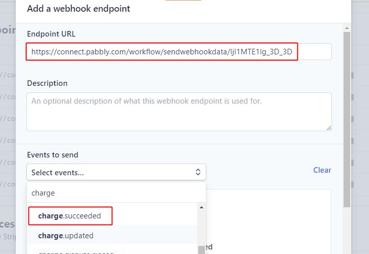 Paste Webhook URL for Stripe to ConvertKit