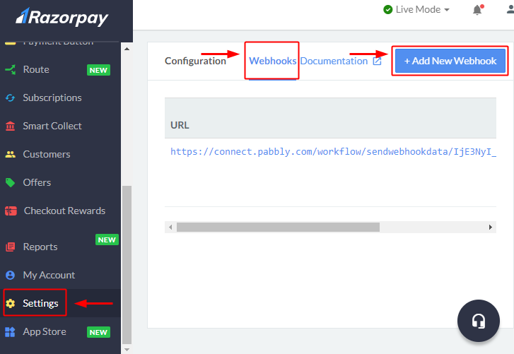 razorpay_webhook_settings