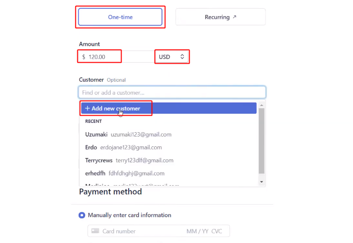 Select Currency and Add Customer
