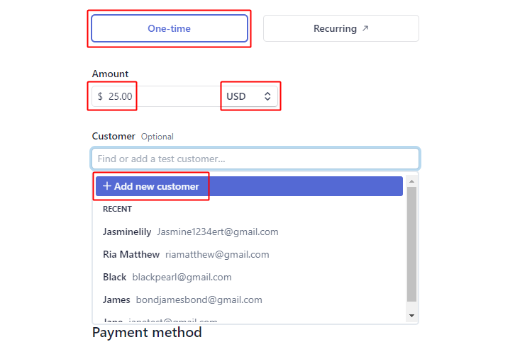 Set Amount & Click on Add Customer