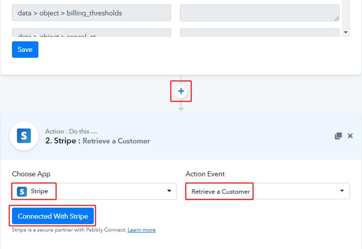 Set Retrieve Customer Action for Stripe to ConvertKit