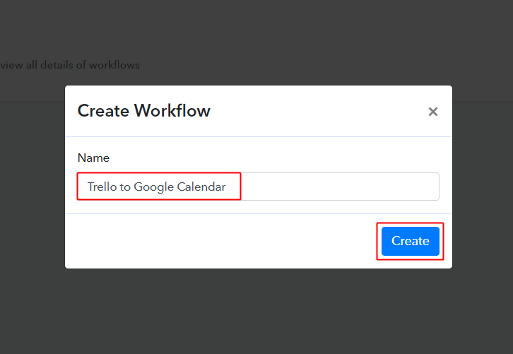 Trello to Google Calendar Workflow