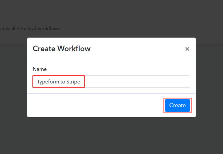 Typeform to Stripe Workflow