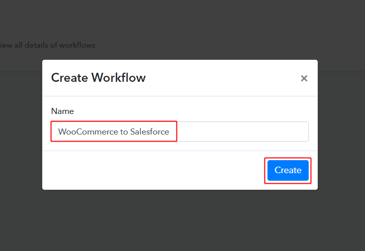 WooCommerce to Salesforce Workflow