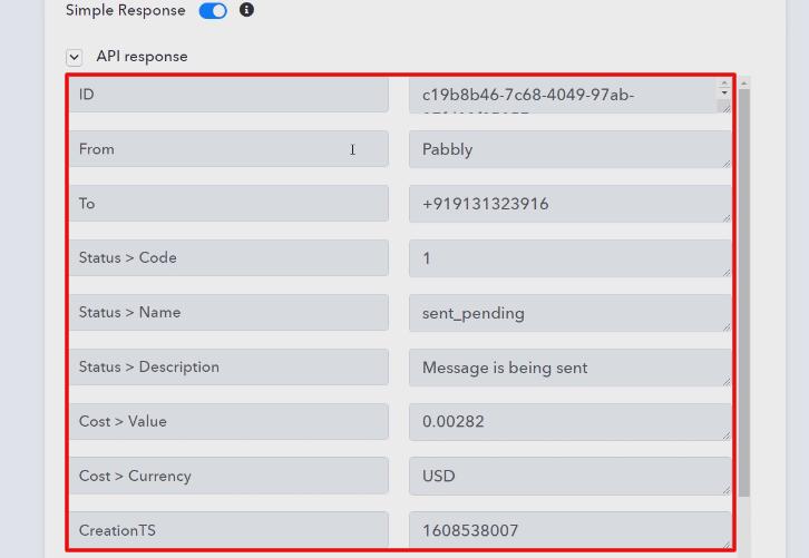 Check the Action API's Response