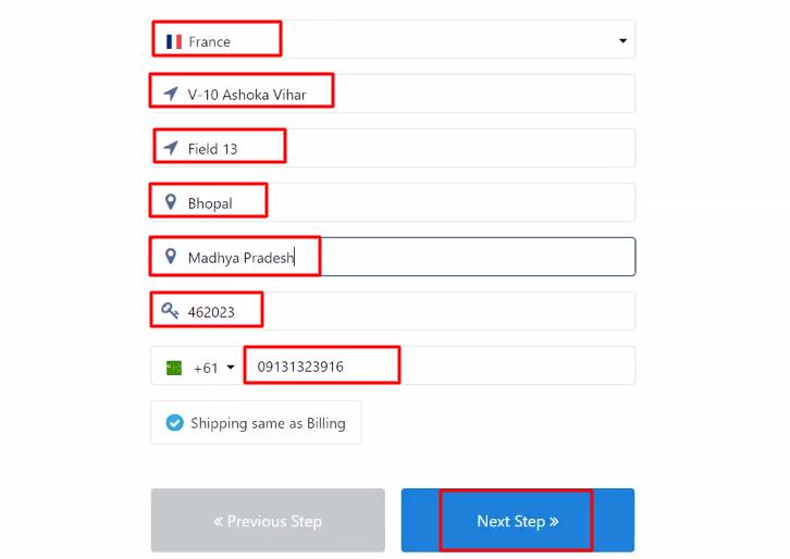Add Billing Info Paykickstart