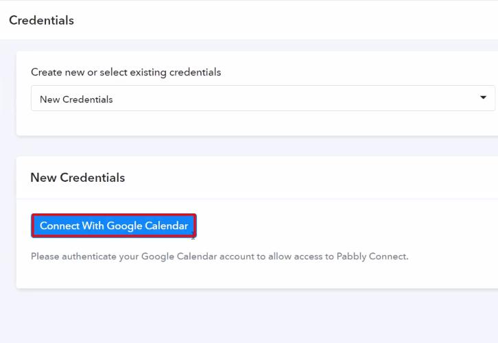 Authorize Application Google Calender