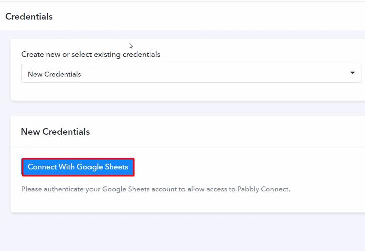 Authorize Application Google Sheets