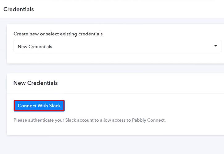 Authorize Application Slack