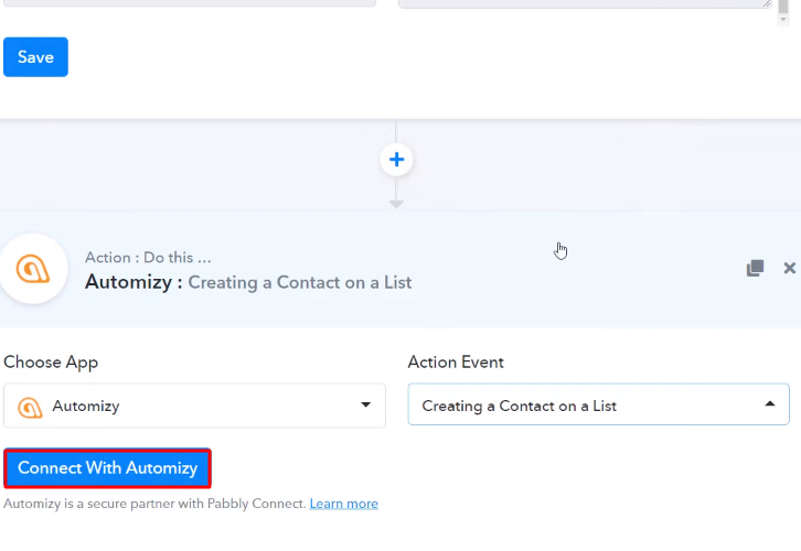 Connect with Automizy
