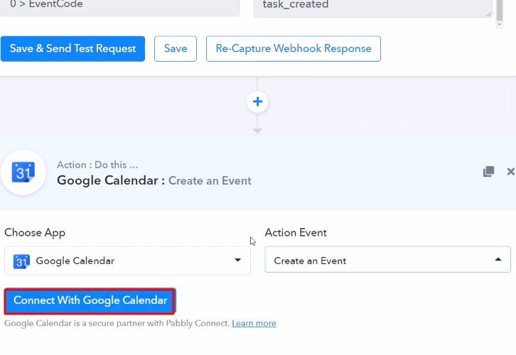 Connect with Google Calender