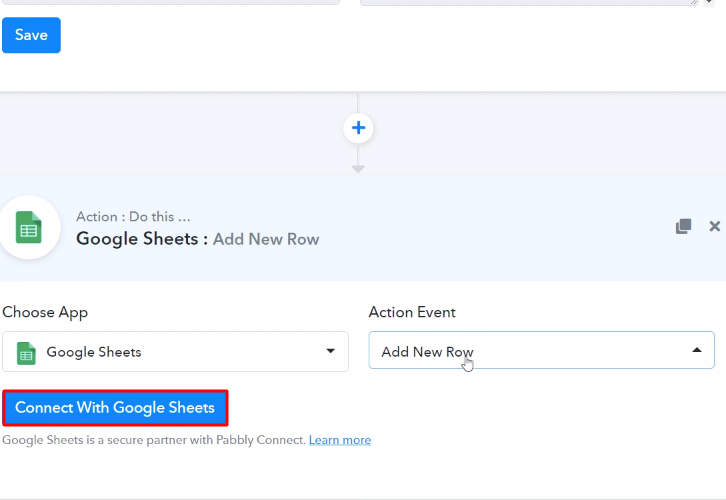 Connect with Google Sheets