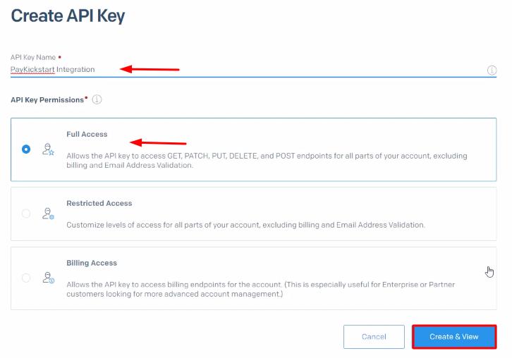 Generate New API SendGrid