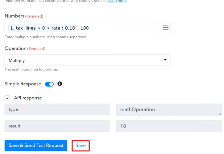 Save the API Response Number Formater