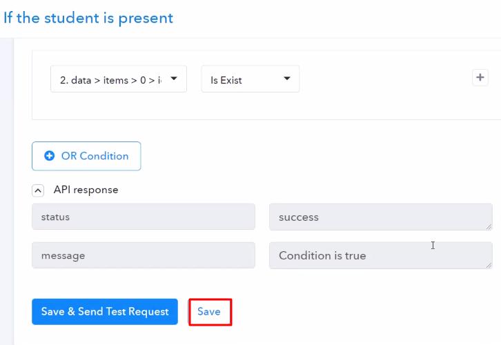 Save the API Response