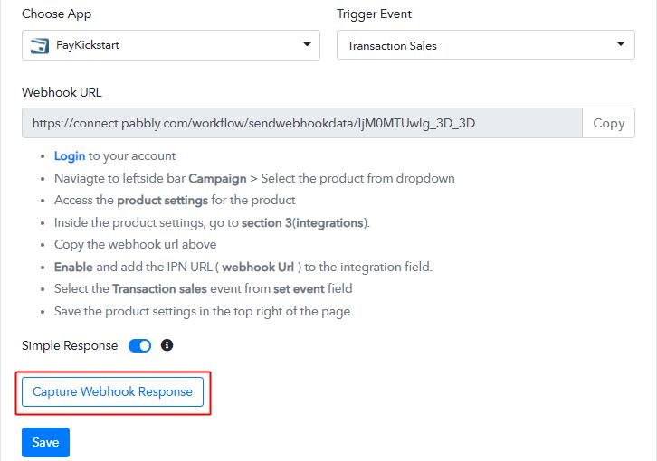 Capture Webhook Response for PayKickstart to Twilio
