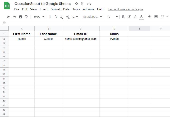 Check Response Google Sheets