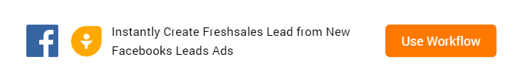 Create Freshsales Lead from New Facebooks Leads Ads Workflow