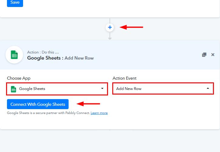Integrate Google Sheets