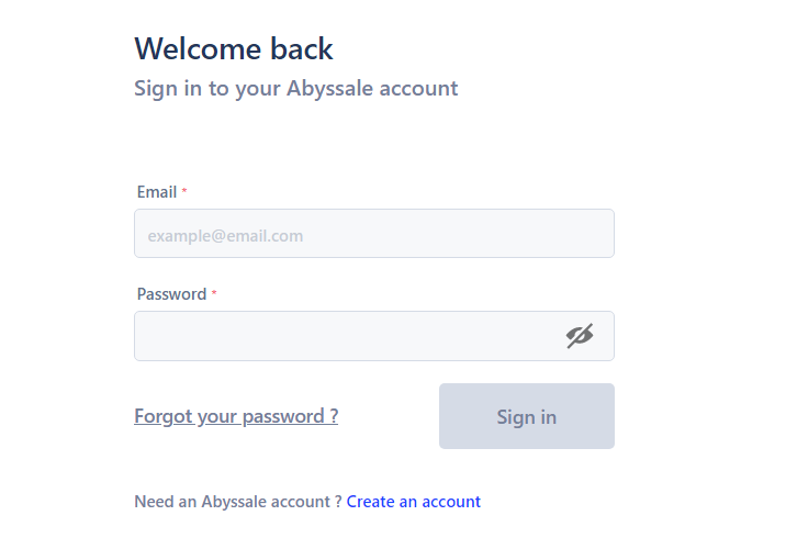 Login to Abyssale