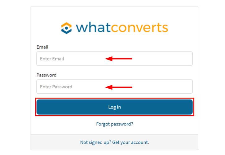 Login to WhatConverts