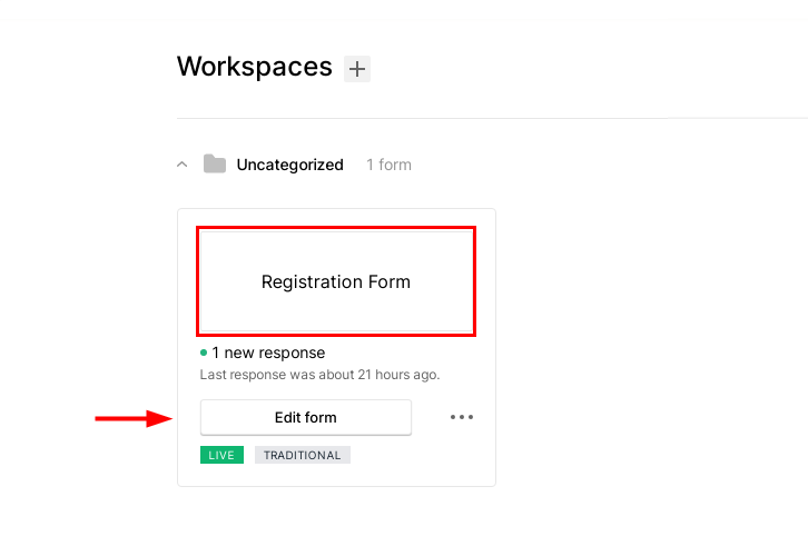 Open the Form