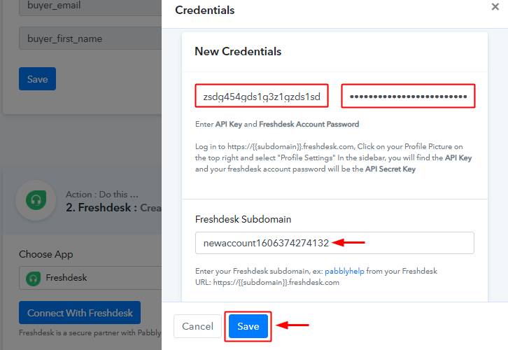 paste_freshdesk_credentials_and_subdomain_for_paykickstart_to_freshdesk