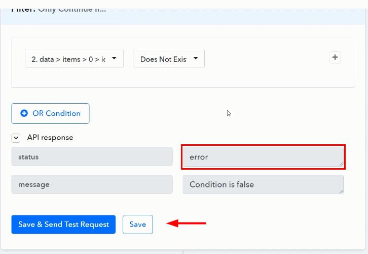 Save API Response