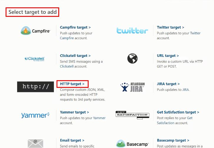 Select HTTP Target