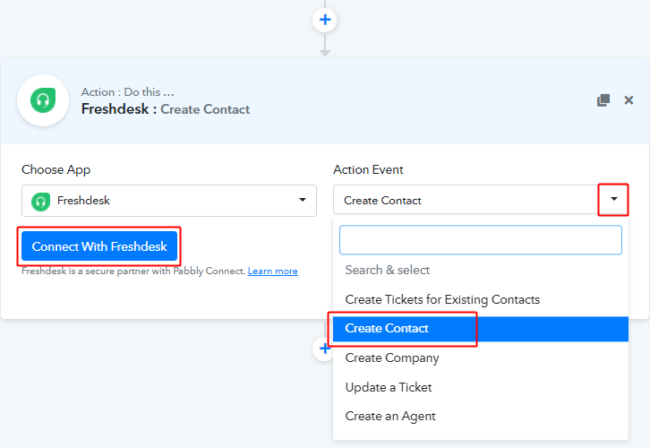 select_action_event_and_connect_with_freshdesk_for_paykickstart_to_freshdesk