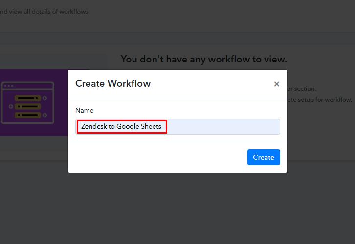 Zendesk to Google Sheets Integration