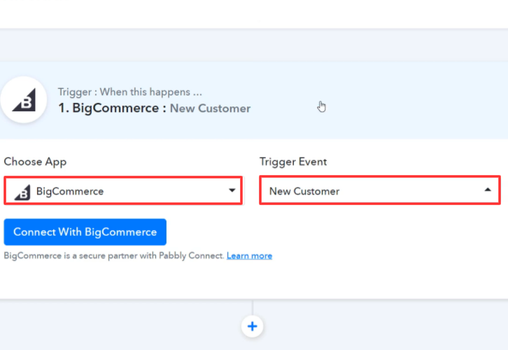 Select Application you Want to Integrate BigCommerce