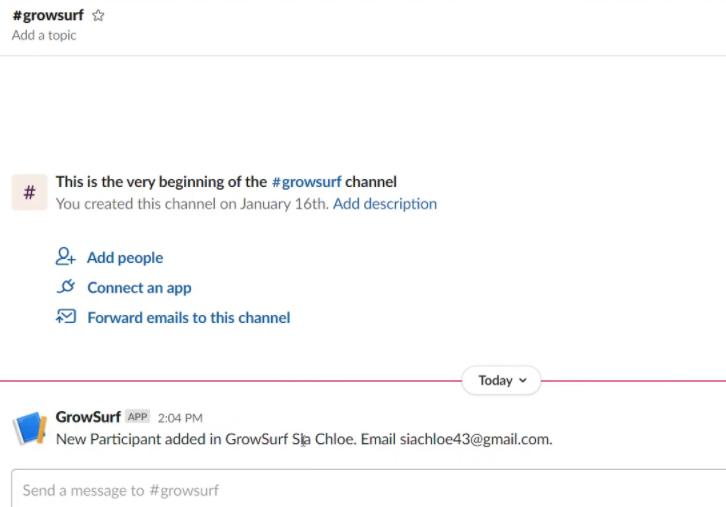 Check Response in Slack Dashboard