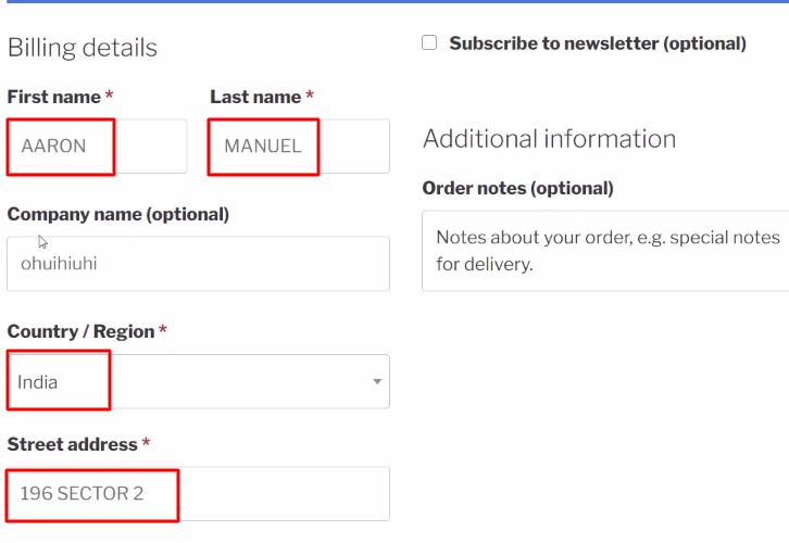 Add Customer Details WooCommerce