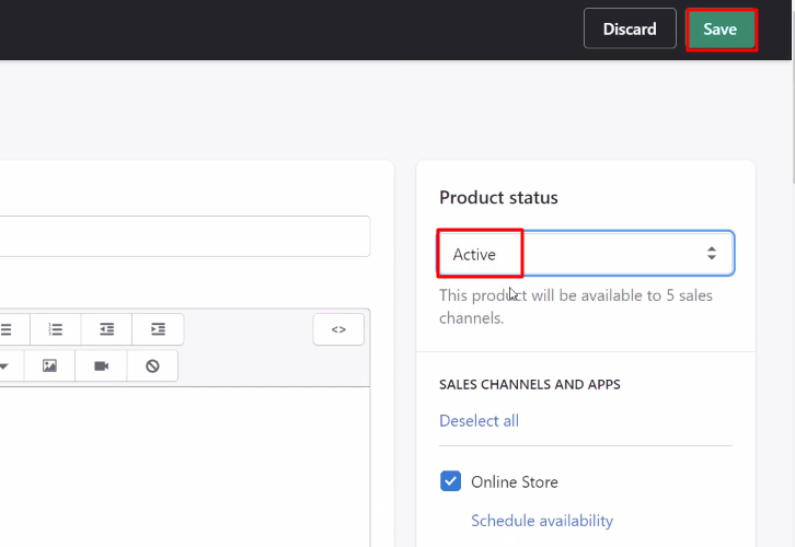 Add Product Shopify