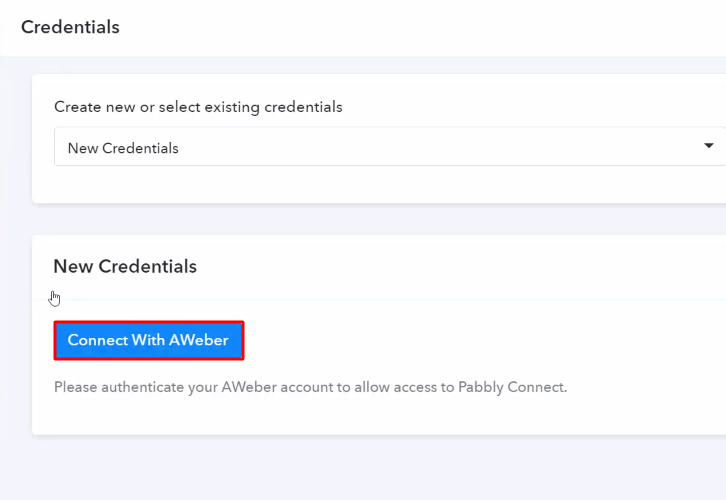 Authorize Application Aweber