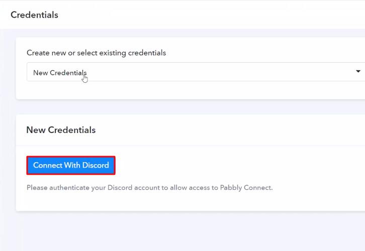 Authorize Application Discord