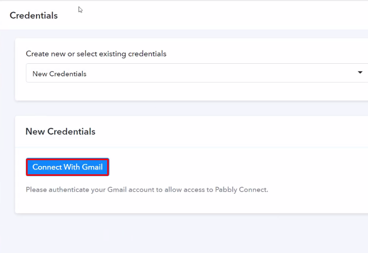 Authorize Application Gmail