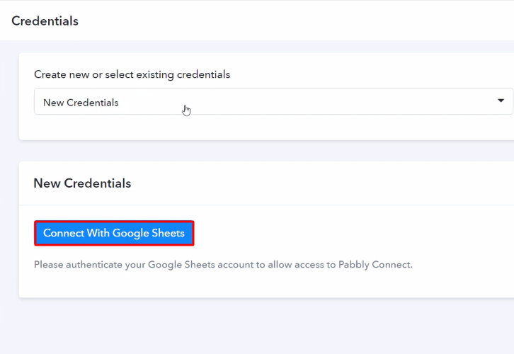 Authorize Application Google Sheets