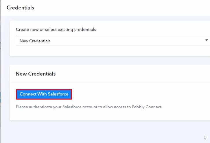 Authorize Application Salesforce