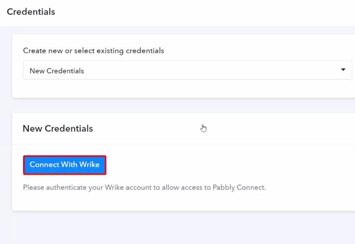 Authorize Application Wrike