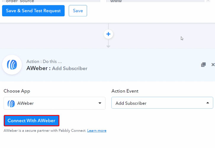 Connect with Aweber