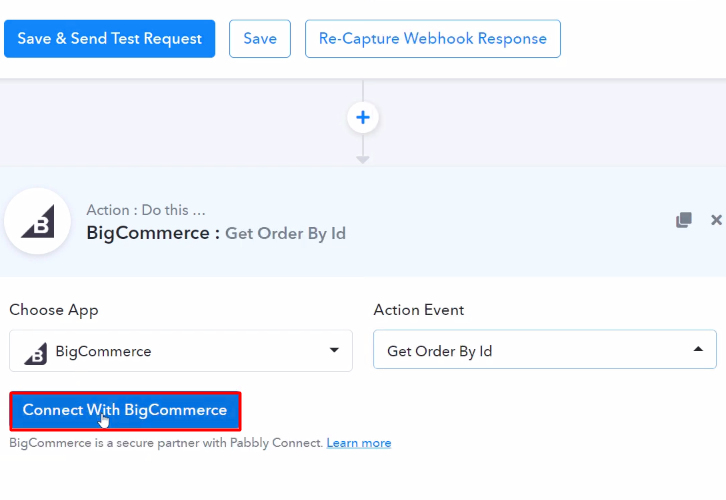 Connect with BigCommerce Action