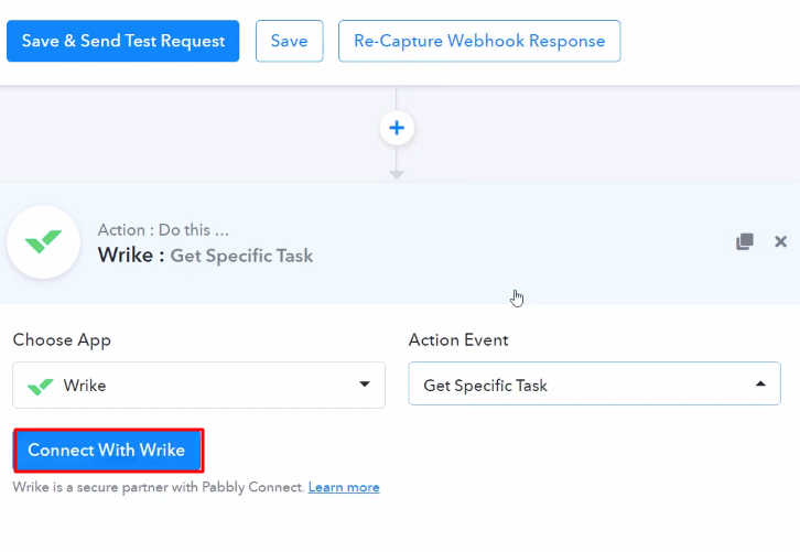 Connect with Wrike Action
